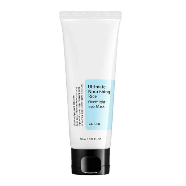 Cosrx Ultimate Nourishing Rice Overnight Mask deeply moisturises the skin and helps to brighten skin tone.