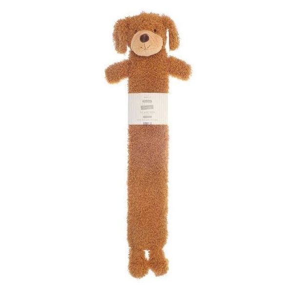 Get instant comfortable heat with our long hot water bottle, in a brown colour, dog design and novelty cover.