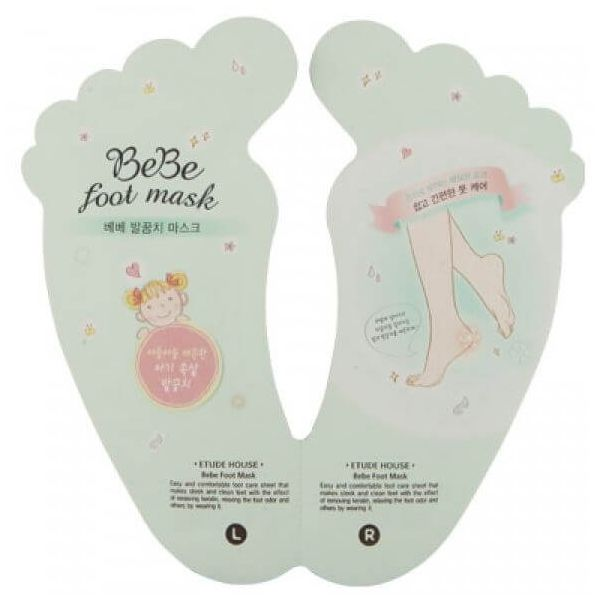 Get rid of rough cracked heels and reveal baby-like feet with this easy to use foot mask by Etude House.