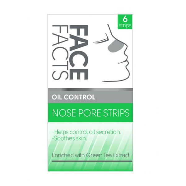 6 oil control nose pore strips that shrinks pore size and controls oil secretion.