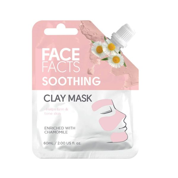 Soothing clay mask enriched with Chamomile extract helps to nourish and soften the skin. Has anti-inflammatory properties.