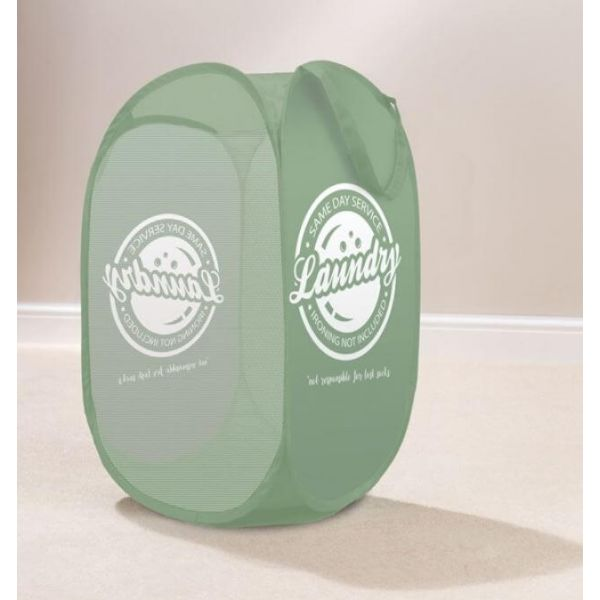 Tidy dirty clothes in style with this attractive pop up laundry basket. Comes in a lovely green colour.