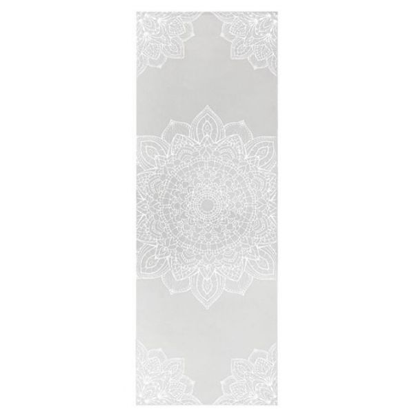 High quality grey printed yoga mat that provides a relaxing surface for yoga, pilates and general exercise.
