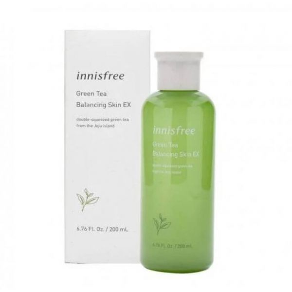 This Innisfree Green Tea Balancing Skin EX toner helps to deliver deep moisture and balance dry or dehydrated skin.