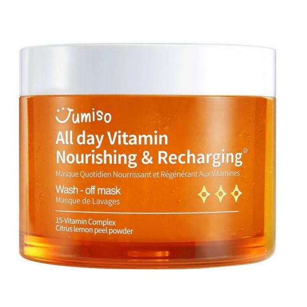 Rejuvenate and energise your skin with this Jumiso Vitamin Nourishing & Recharging wash-off mask.