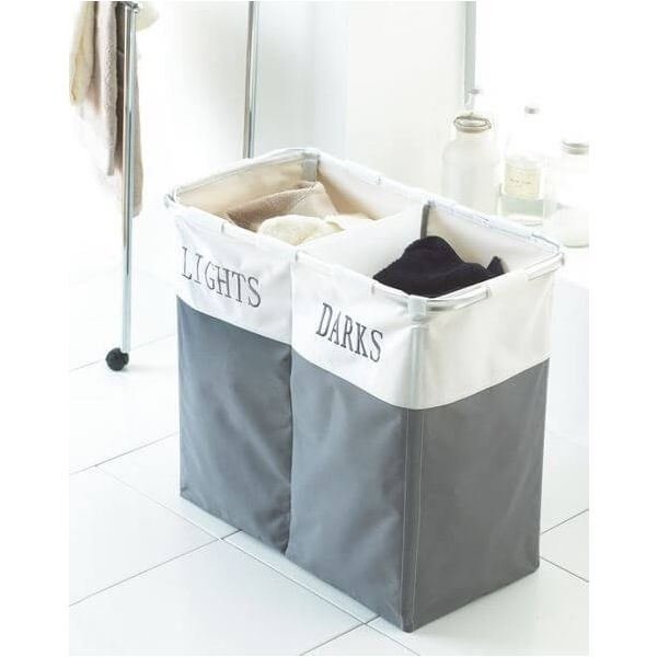 Sort out your dirty clothes in style with our lights and darks laundry basket.
