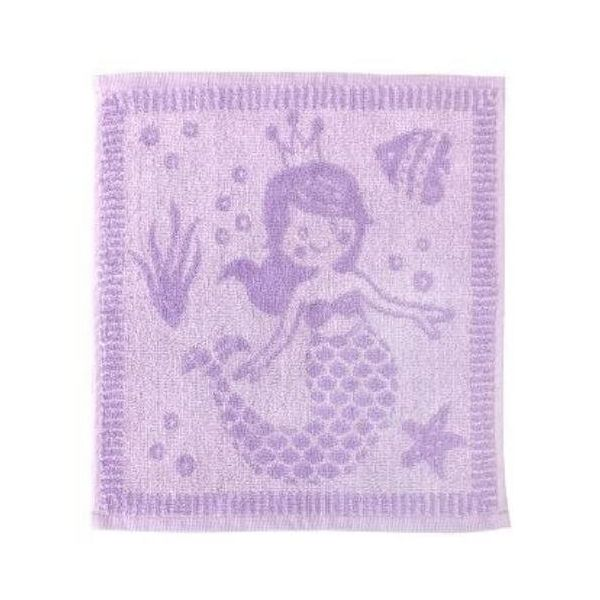 Lovely soft baby face cloths in purple mermaid design