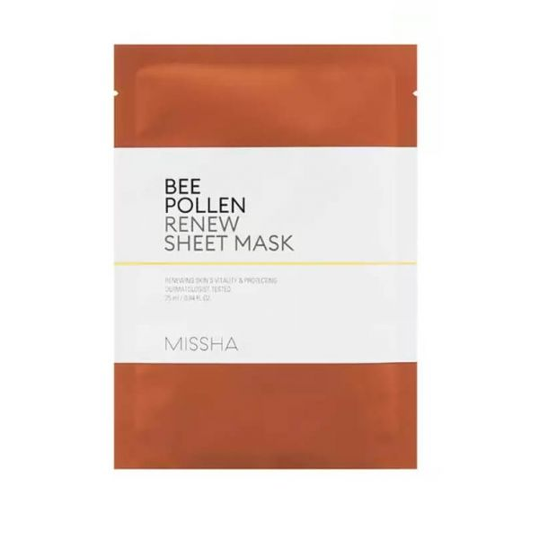 Missha Bee Pollen Renew Sheet Mask helps to renew skin's vitality and protects skin.