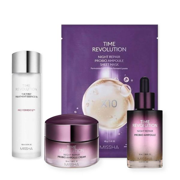 Missha Time Revolution Skincare Set helps to slow down signs of ageing and gets rid of fine lines and wrinkles.