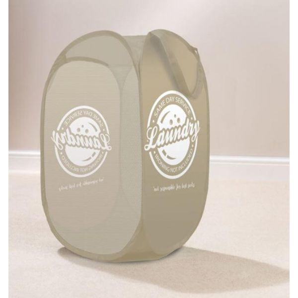 Tidy dirty clothes in style with this cool pop up laundry basket. Comes in a lovely natural colour.
