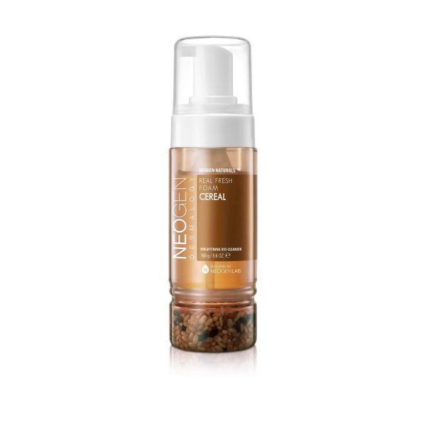 Easily remove leftover make up and excess oil with Neogen real fresh foam cereal cleanser.