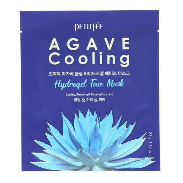 Petitfee Agave Cooling Hydrogel Face Mask helps to cool, relieve and firm tired skin.