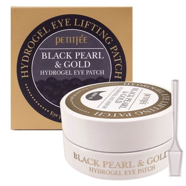 This petitfee eye patches contains black pearl extract, rose water and 24k gold, to give the skin that radiant look.