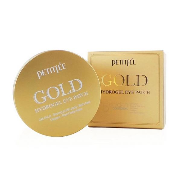 This petitfee gold hydrogel eye patch keeps the skin around the eyes glowing and moisturised.