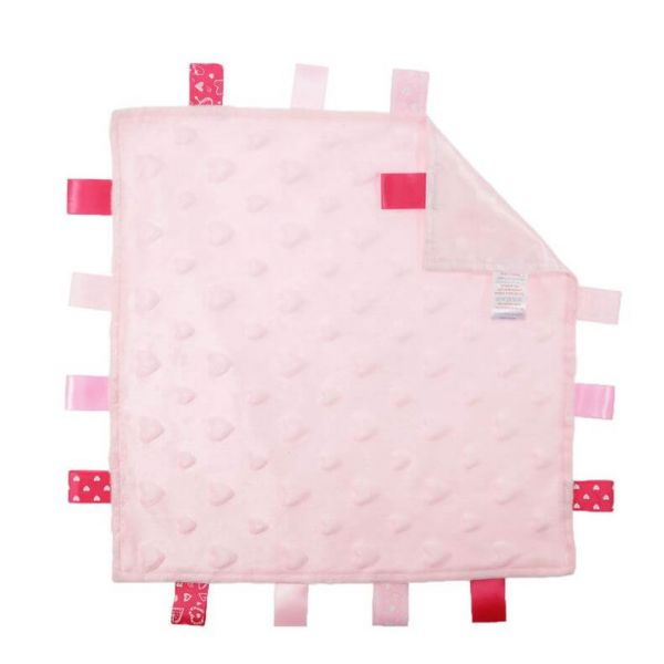 Extra soft and cuddly pink baby comforter for your little ones.
