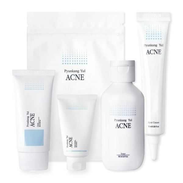 Say goodbye to acne with this Pyunkang Yul acne skincare set.