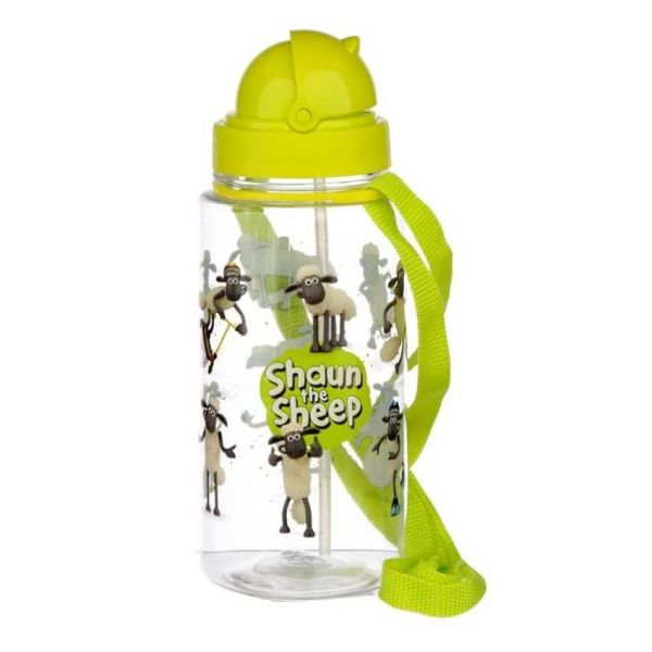 Send your kids to school in style with this Shaun the Sheep kids water bottle. Ideal for nursery, picnics and days out.