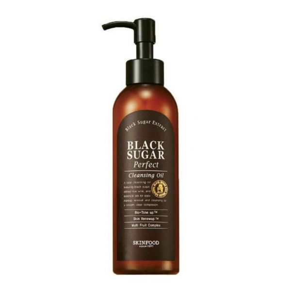 Get rid of dead skin cells, remove makeup and impurities with this Skinfood black sugar perfect cleansing oil.