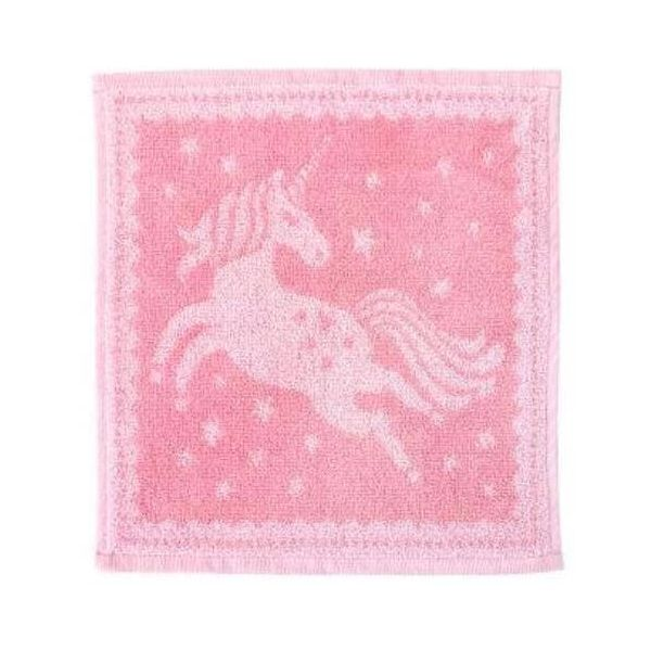 Lovely soft baby face cloths in a pink unicorn design.