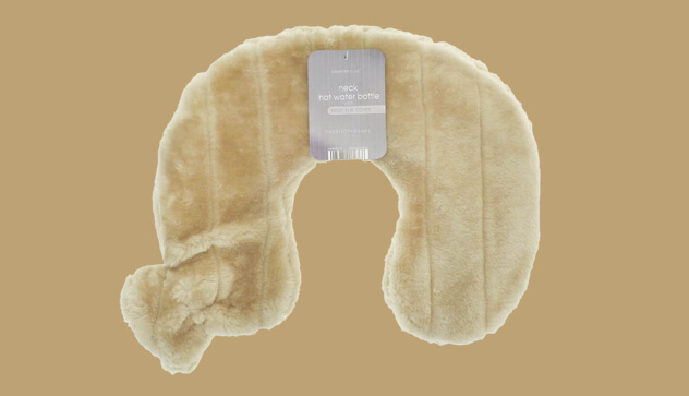 Sand Neck and Shoulder Hot Water Bottle Faux Fur Cover